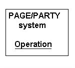 Page/Party system. Way of operation